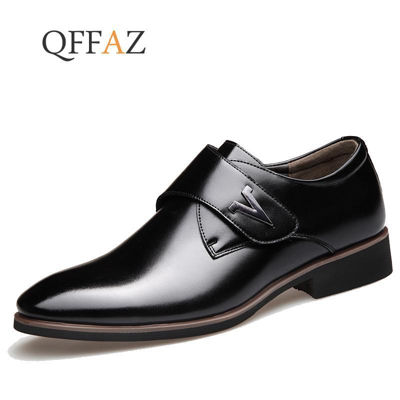 d94dfa896 QFFAZ Men Dress Shoes Men Formal Shoes Leather Luxury Fashion Wedding  Business Casual Oxford Cheap Shoes Dansko Shoes From Lalulala