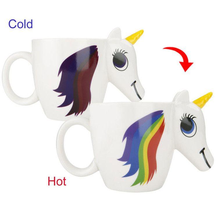 Compre Taza De Unicornio Taza De Cerámica Dibujos Animados Preciosa