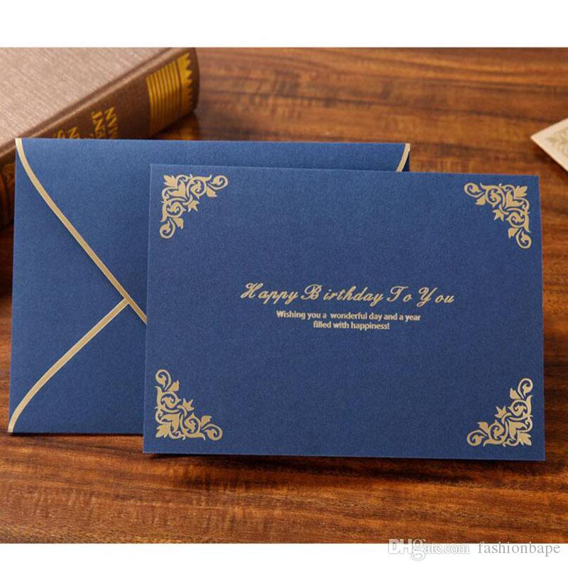 Invitation Greeting Cards Handmade Paper Mother Father Days Happy Birthday Card Staff Thanks Wedding Free Funny