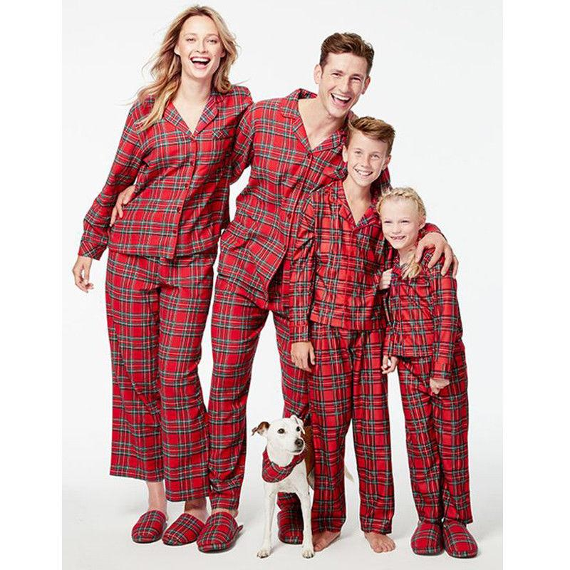 0776ed0fad Family Matching Christmas Red Plaid Pajamas Set Baby Kids Santa Long Sleeve Sleepwear  Nightwear Set Family Coordinated Outfits Mommy And Baby Girl Matching ...