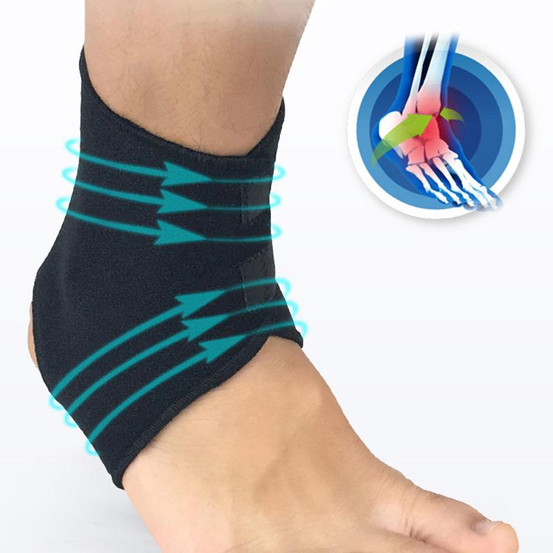 47c1430f4e 2019 Ankle Support Socks 2018 Men Women Lightweight Breathable 360 Degree  Adjustable Sleeve Heel Cover Protective Wrap Nakefit From Peachguo, ...
