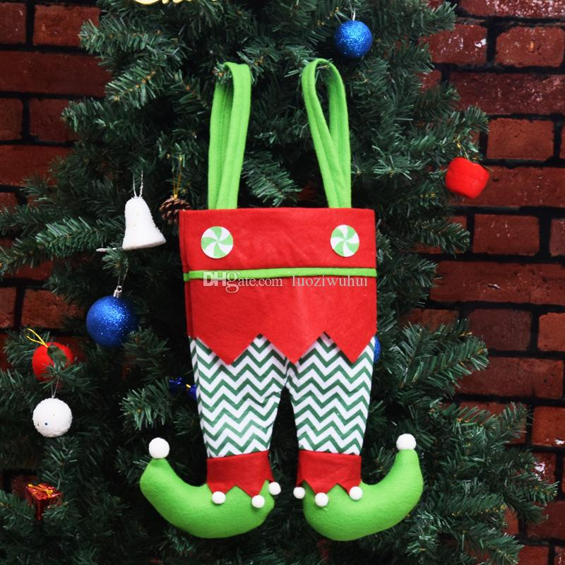 hot christmas elf candy bags decorative items christmas gift bags red wine bag pendant gifts factory wholesale will not let you downok christmas toys