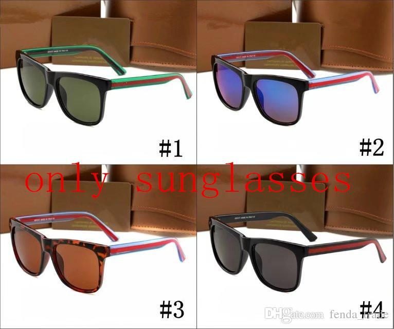 2018 Nouvelle Mode Shade Femmes Sunglasses Marque Designer pour hommes Sun Lunettes lunettes lunettes lunettes 0057