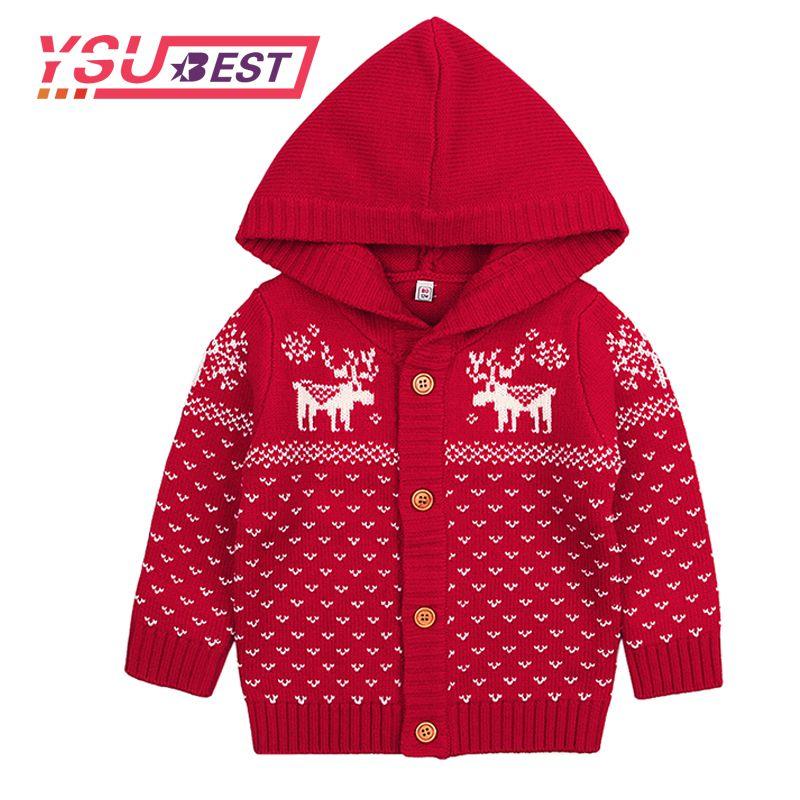 Großhandel Neue Kinder Pullover Weihnachten Rentier Häkeln Mädchen