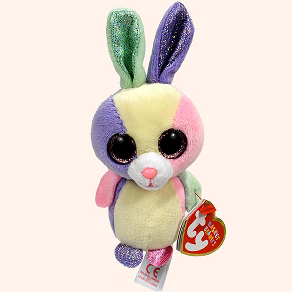 2019 Pyoopeo Ty Basket Beanies 5 12cm Bloom The Bunny Plush Soft Stuffed  Animal Rabbit Collectible Doll Toy With Heart Tag From Moongate cb6f9cfc3e08