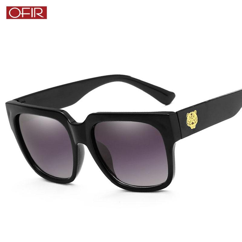 40a0f0d97c Compre Gafas De Sol Cuadradas Para Hombre 2018 Diseñador De La Marca  Leopard Head Gafas De Sol Mujeres Vintage Anti UV Conductor Gafas De  Conducción Gafas A ...