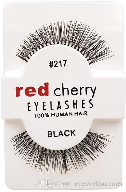 RED CHERRY False Eyelashes Natural Long Eye Lashes Extension Makeup Professional Faux Eyelash Winged Fake Lashes