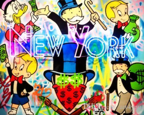 731416b94d9 2019 Hand Painted & HD Print Alec Monopoly Graffiti Street Pop Art Oil  Painting New York Party On Canvas Home Deco Wall Art G290 From Art4you, ...