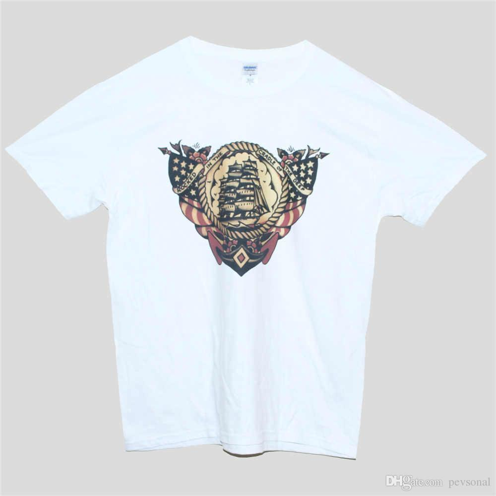 a63b4f3c 2018 Summer Casual Man T Shirt NAUTICAL TATTOO T Shirt Anchor Holiday Sailor  Jerry Fashion Tee Unisex ALL SIZES Printed T Shirt Online Shirts T Shirt  Design ...