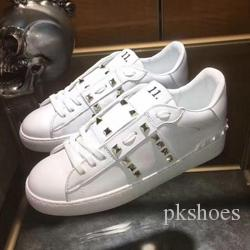 aad85220e 2018 Hot New Arrivals Spring Autumn Womens Black White Genuine Cow Leather  Casual Lace Up Sneakers Trainer Gold Studs Rivets Embroidery Shoe Winter  Running ...