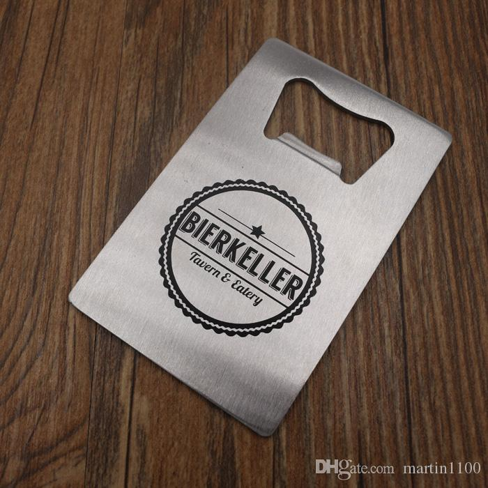 free dhl personalize wedding favor credit card bottle opener business card opener bottle opener business card credit card bottle opener stainless steel - Bottle Opener Business Cards