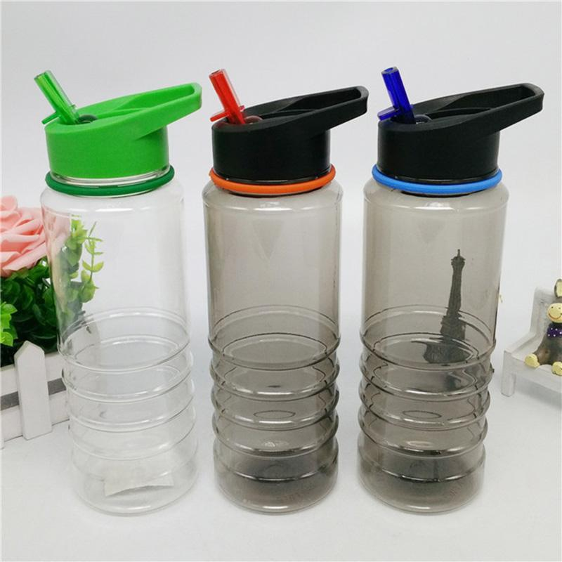 Water Bottle Straw Drink Plastic 800ml Durable For Outdoor Hiking Camping Sport B2Cshop