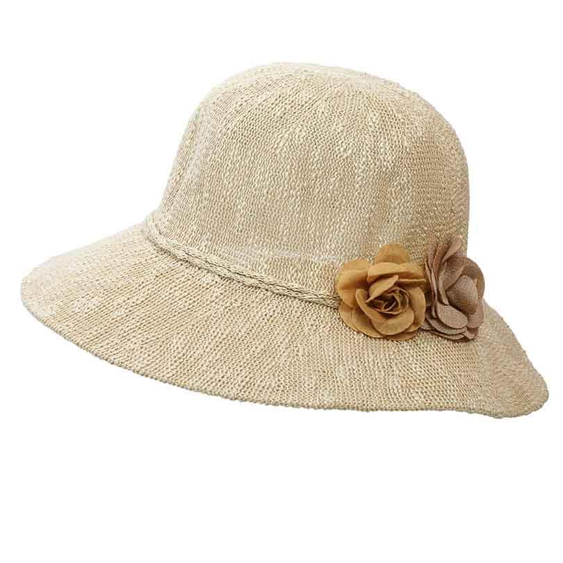 Straw Bucket Hat Women 2018 Summer Flower Sun Hats For Ladies Packable Caps  Crochet Hat Fisherman Floppy Hat Kangol Hats From Playnice 04524cbb4041