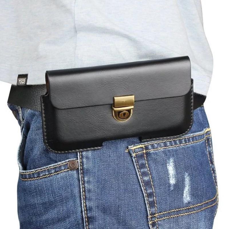 Custodia con clip cintura in pelle universale PU ZTE Nubia Z5S mini / Blade G Pro / Blade Q Lux 4G