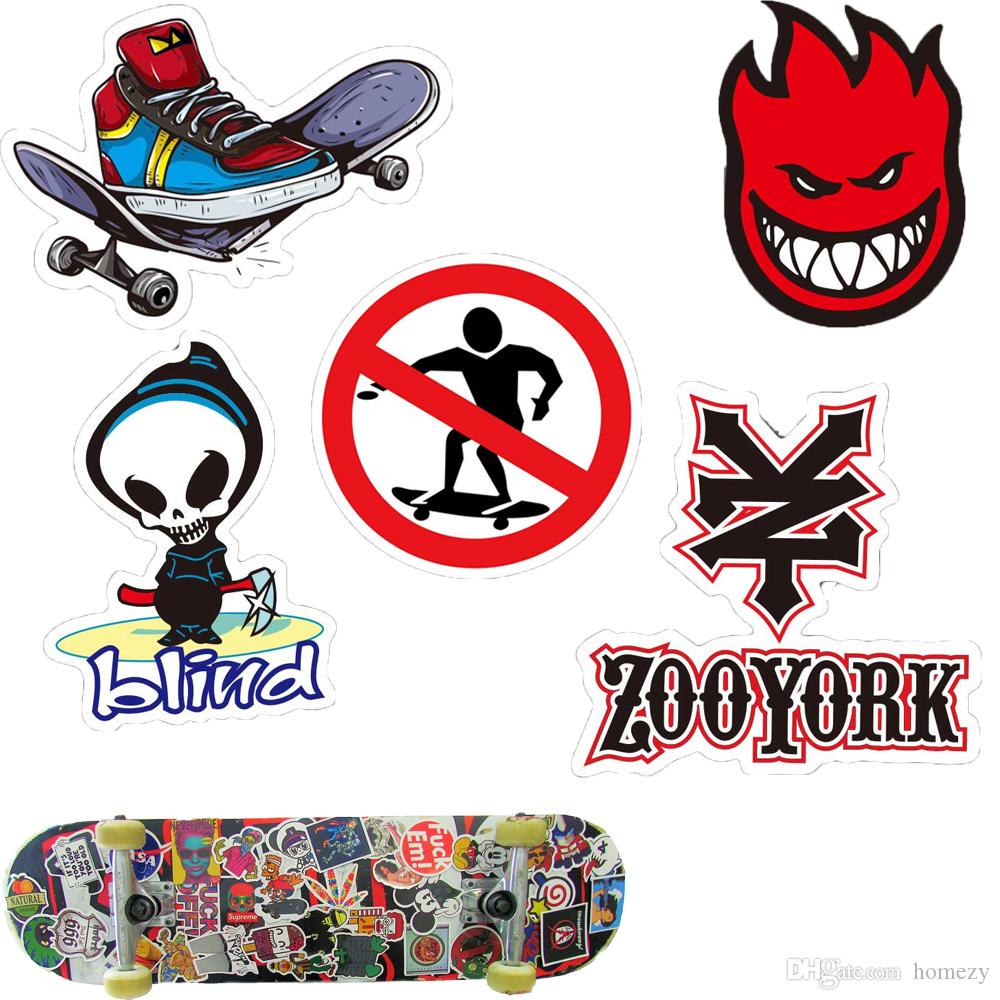 Skate skateboard sport brand sticker for car skateboard motorcycle bicycle luggage laptop skate stickers bumper graffiti decals sport logo sticker on wall