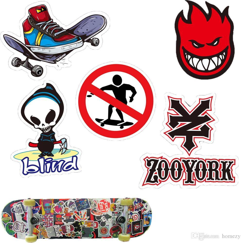 Skate Skateboard Sport Marke Aufkleber Für Auto Skateboard Motorrad Fahrrad Gepäck Laptop Skate Aufkleber Stoßstange Graffiti Decals Sport Logo