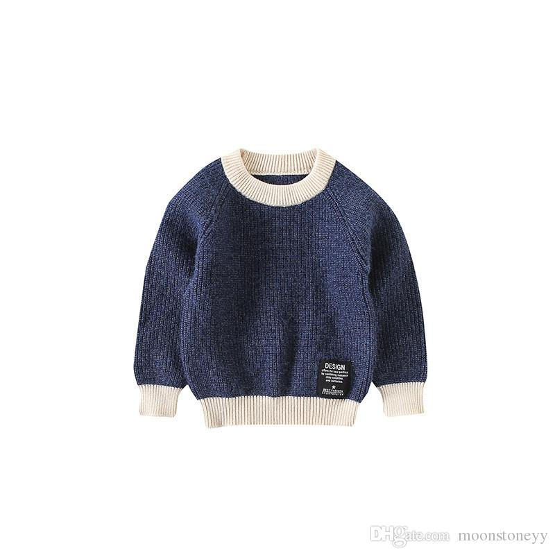 6483cce83671 Autumn Winter Baby Boys Sweater High Quality Kid Warm Knitwear ...