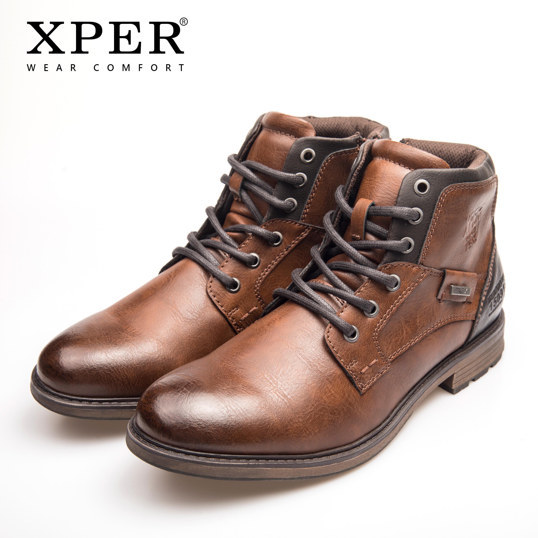 Acquista XPER Nuovissimo Funzione Impermeabile TEX Aggiornato Stivali Uomo  Lavoro Invernale Scarpe Roma Stivaletti Moto Zip Grande Formato XHY12504T A  ... 2548f405ba5