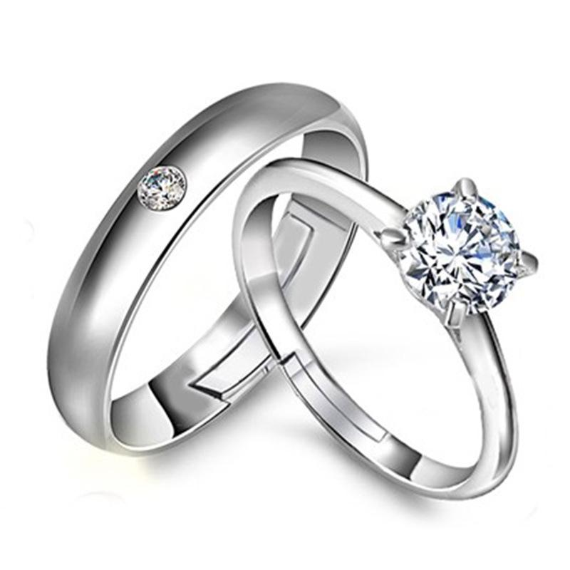e3cf72da2e0e0 Engagement Rings Wedding Rings Couple Ring Adjustable Promise Ring Fashion  Hand Jewelry for Lovers 2018 Hot Sale