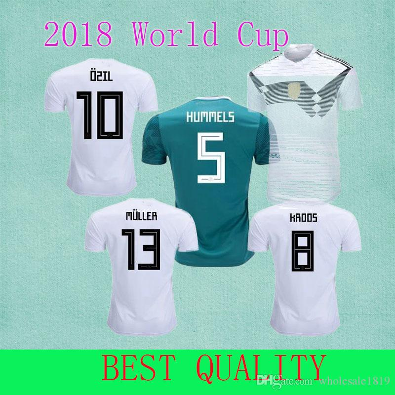 ae7ab3c5d Germany Soccer Jersey Fans Player Version 2018 World Cup MULLER OZIL  DRAXLER KROOS HUMMELS WERNER Jersey Football Kit Shirt Germany World Cup  Jersey PLAYER ...