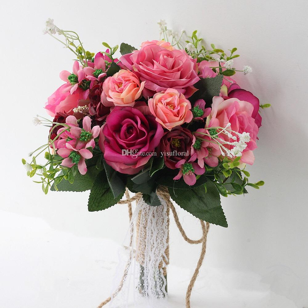 Grosshandel Blumenstrausse Fur Hochzeit Billige Seidenblumen