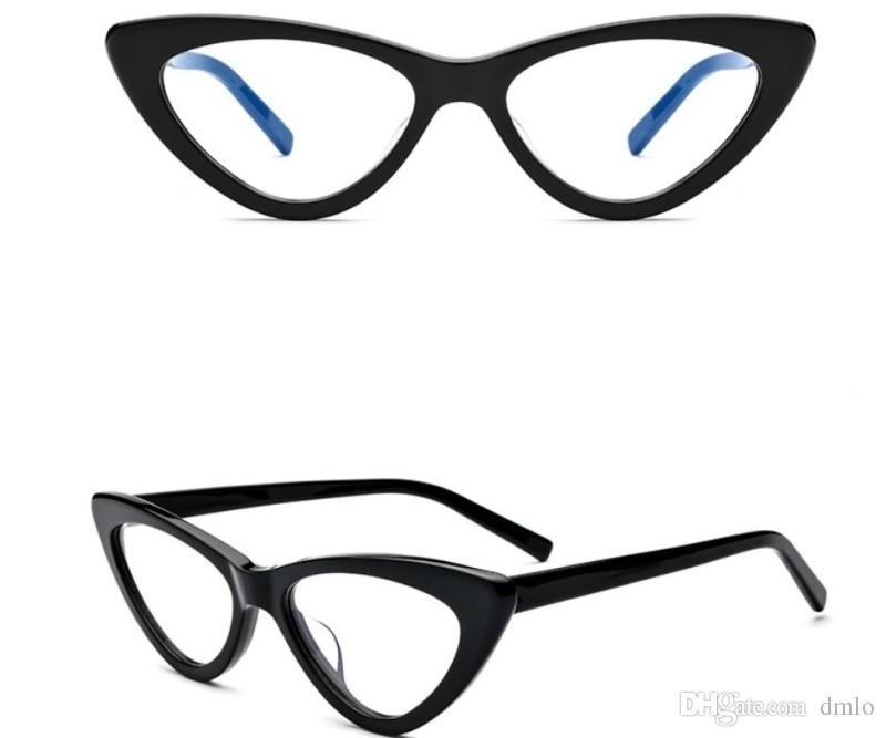 e598d0bae3 Compre Gafas De Miopía Gafas De Ojo De Gato Moda Gafas Para Mujer Gafas De  Ojo De Gata Gafas Ópticas De Color Blanco Negro Gafas De Marco De  Espectáculo De ...