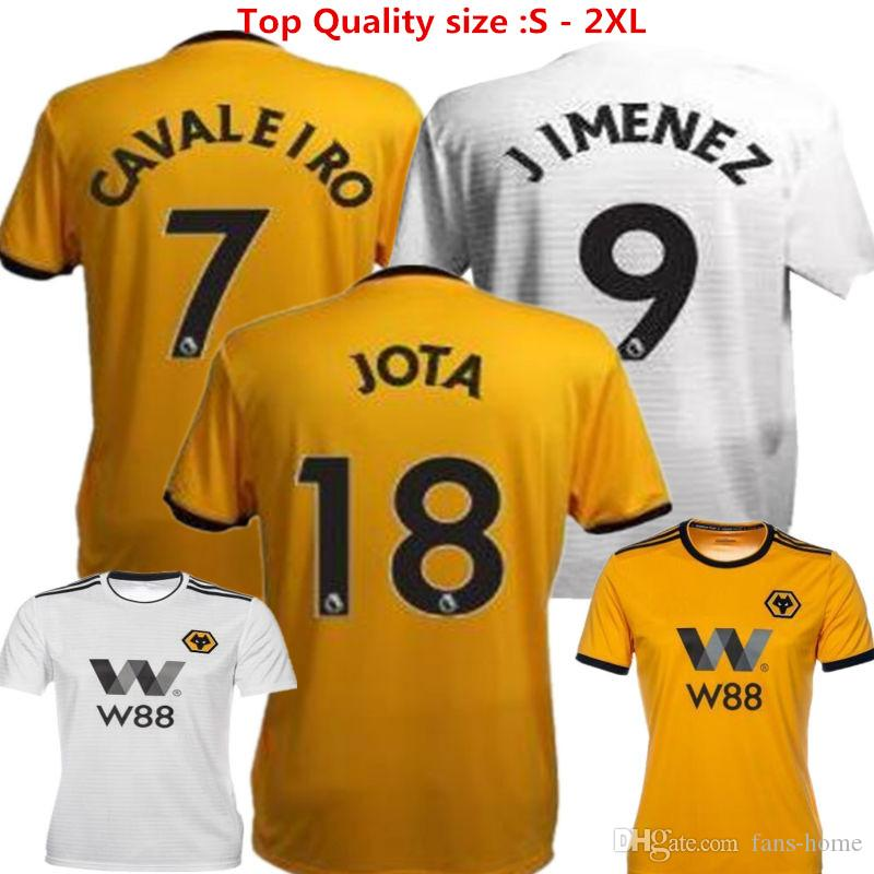 Wolves Footbal Shirts Wolverhampton Wanderers Soccer Jerseys 2018 2019  Cavaleiro LEO NEVES Boly Customized Uniforms Home Yellow Away English  Canada 2019 ... 1aa79d660
