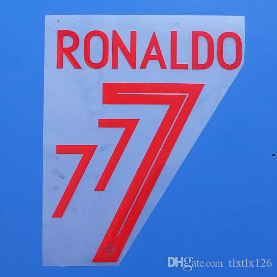 2018 DÜNYA KUPASI Portekiz Milli takımı RONALDO futbol Isim Özelleştirme İsim A-Z Numarası 0-9 Baskı Futbol Oyuncu font nameset yama