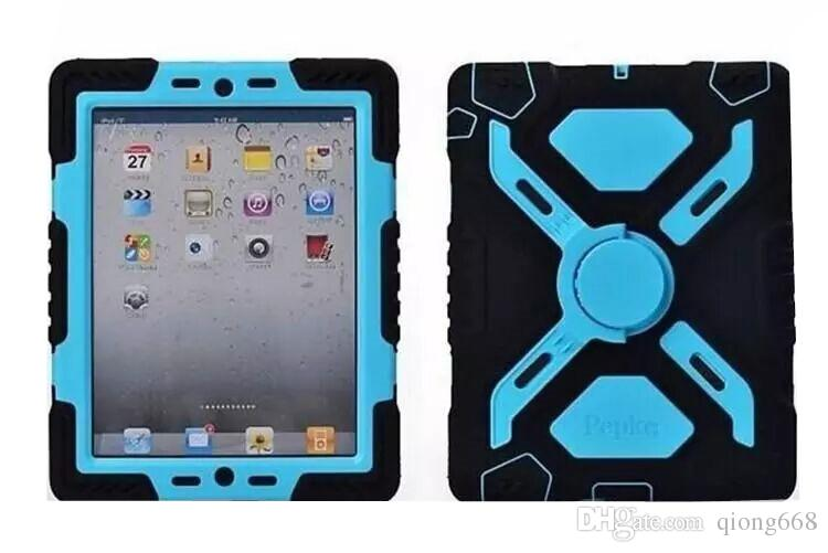 Pepkoo Defender Spider Extreme Military Heavy Duty Waterproof Dust Shock Proof with stand Hang cover Case For iPad/ipad mini/ipad air