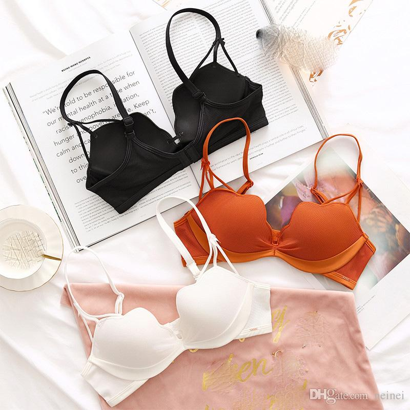 3c2621012fb 2019 Sexy Deep U Cup Bras Sets For Women Push Up Lingerie Seamless Bra Set  Wire Free Bralette Panties Intimates Female Underwear From Neinei