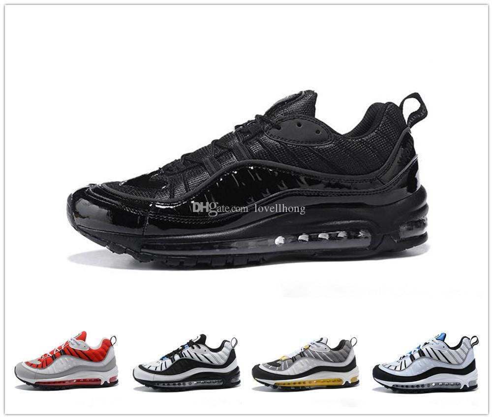 buy online 15459 5d9b5 Großhandel Nike Air Max 98 Airmax 2018 New 98 South Beach Laufschuhe 98er  Jahre QS Cone Gundam AOP UK GMT Triple Schwarz Weiß Trainer Outdoor Sport  Sneakers ...