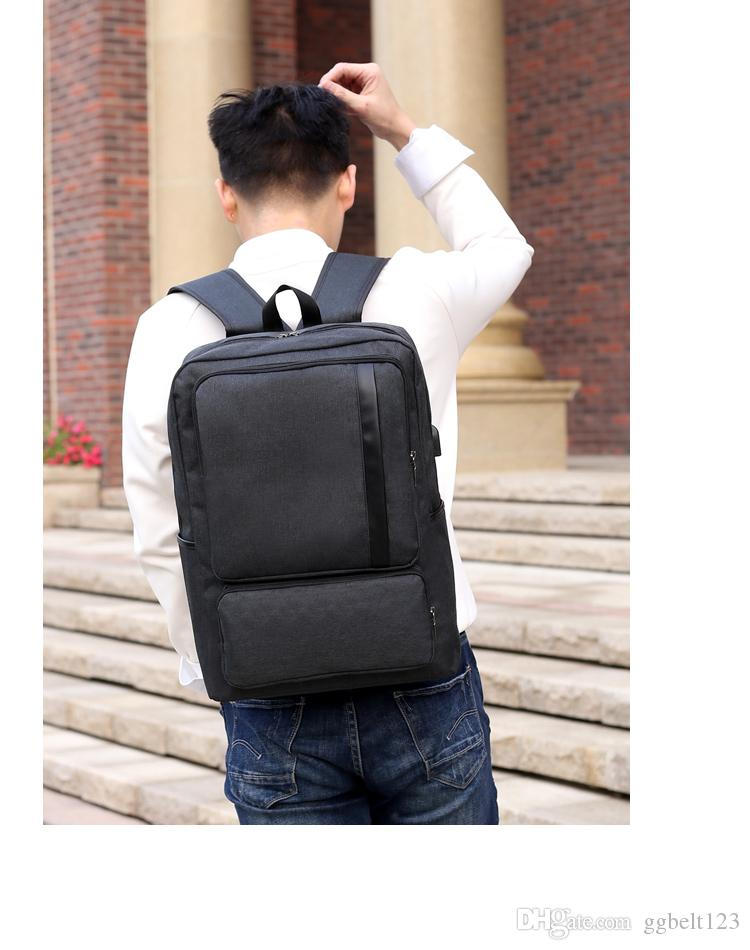 School Bags for Teenagers Brand Youth Back Bag Oxford Waterproof USB Charge College Bags Men Laptop Backpack Male 1725
