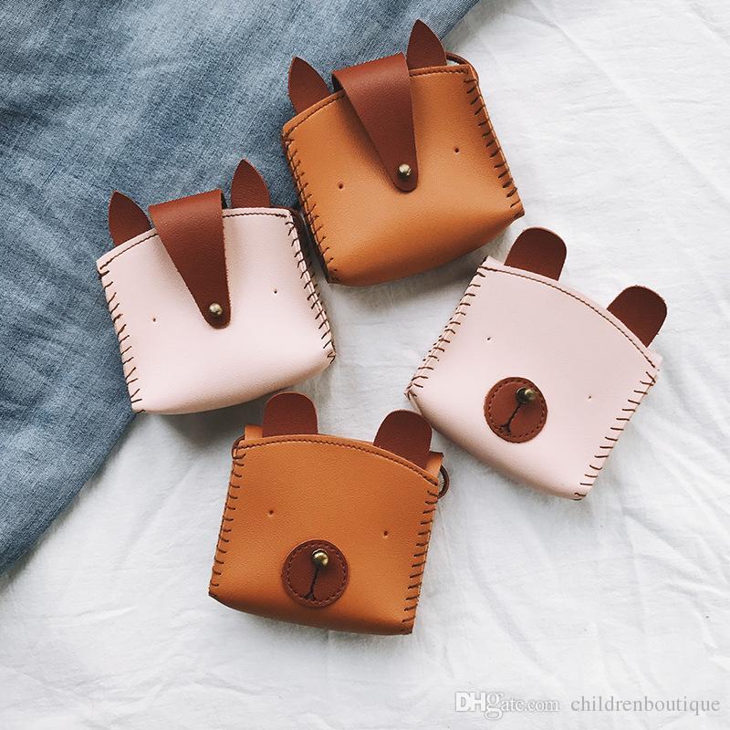 a3c0324ff589 Kids Coin Purse And Handbags Children Girls Boys Cartoon Bear And Fox  Accessories Bags Baby Shoulder Bag Girls Wallet Candies Messenger Bags