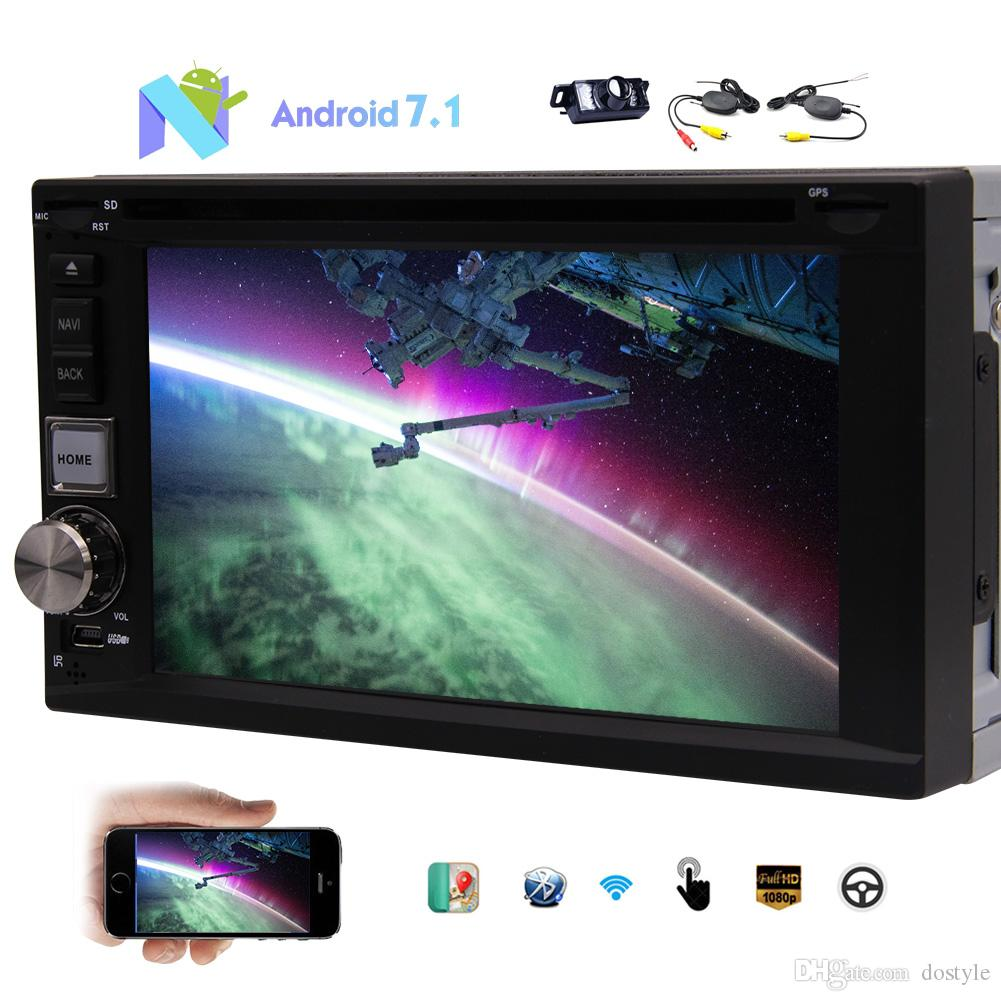 Wireless Rear camera+6.2'' Octa Core Android 7.1 Car dvd Stereo GPS Navigation AM/FM Radio Double 2Din Headunit In Dash Autoradio