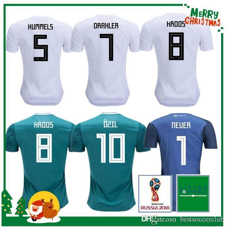 e544f2538 18 19 Germany Soccer Jersey FANS PLAYER VERSION MULLER OZIL DRAXLER 2018  WORLD CUP KROOS WERNER Jerseys Football Shirt Alemania Women WORLD CUP  Germany 18 ...