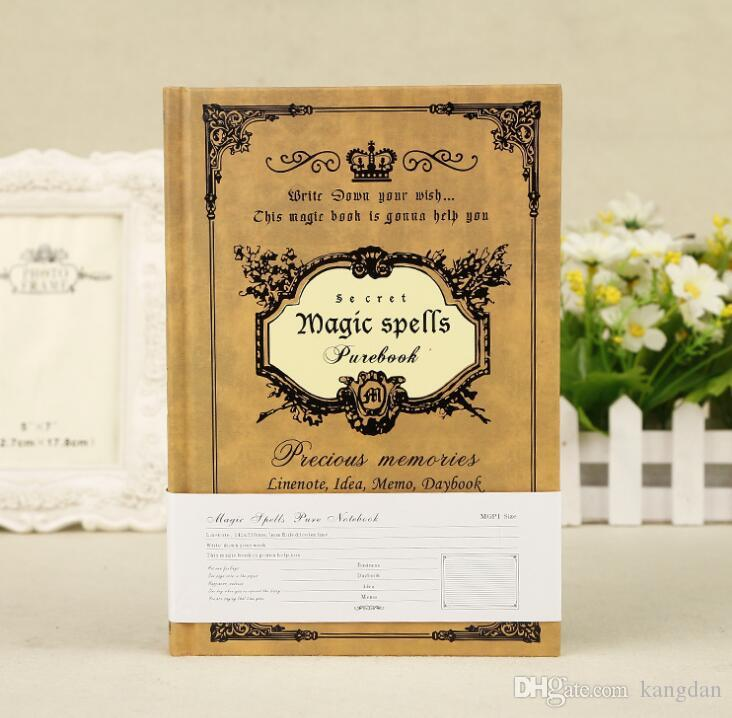 Vintage magic spells diary kraft paper notepads harry potter stationery travel journal business notebooks fashion student notes book