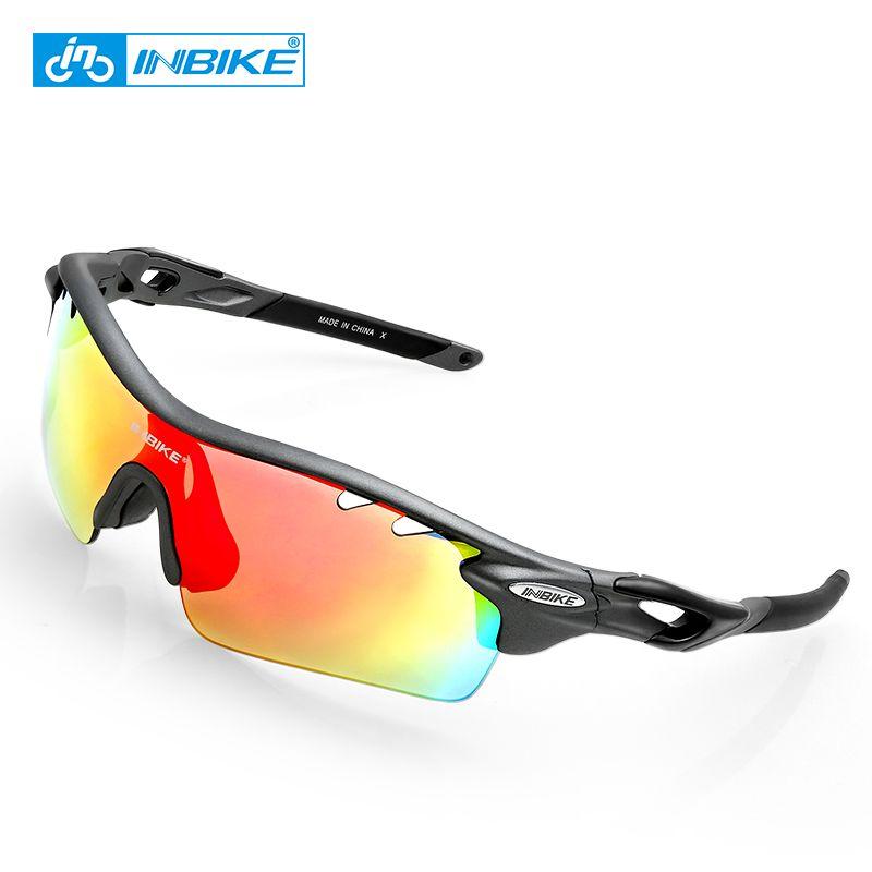 86fdc1bf098 2019 INBIKE Cycling Glasses Men Women Sunglasses Polarized Windproof Bicycle  Gafas 5 Lens Sport Sunglass Jogging Goggles Bike Eyewear From Marchnice