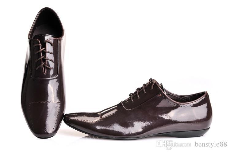 Brand men cow leather lacing dress shoe Vintage Carving Baroque formal Suit Business Office Shoe Low Heel slip-on Wedding Oxfords,40-47