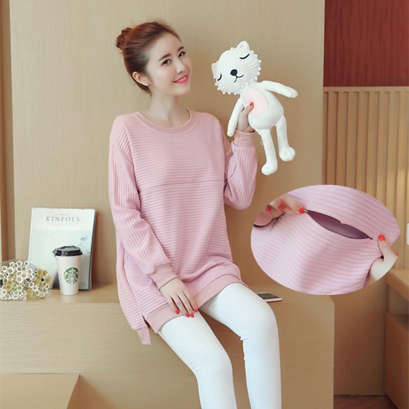3566f5f97 Compre Otoño Invierno Moda Coreana Ropa De Maternidad Camisas Ropa ...