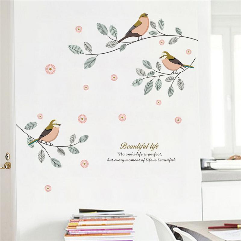 Großhandel Cartoon Vögel Baum Zweig Wandtattoo Wohnzimmer ...