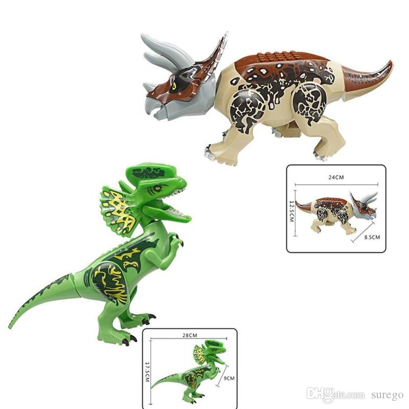 Jurassic Dinosaur Building Block Toy Figure Indoraptor Velociraptor  Triceratop T-Rex World Toy for Child
