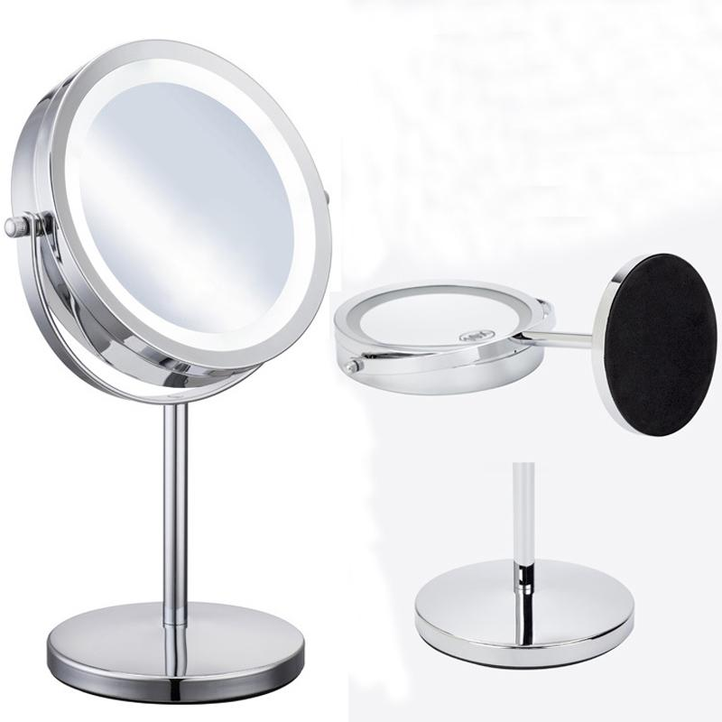 7 Inch 10x Or 5x Magnifying Mirror Brightness Adjule Make Up Makeup Dual 2 Sided Cosmetic Led Bathroom Vanity From Beasy113