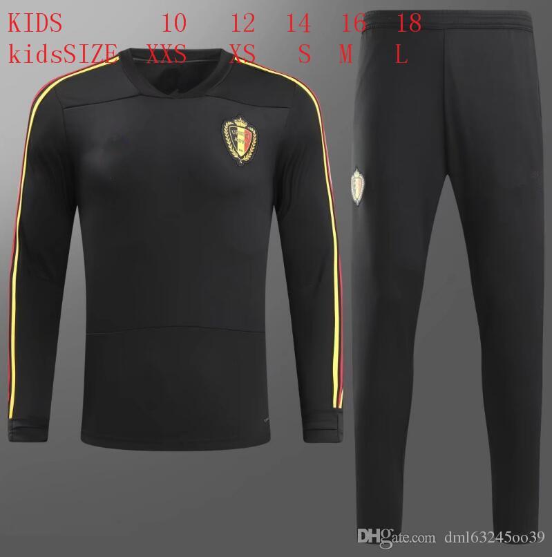 Compre Niños 2018 Bélgica Traje De Entrenamiento De Fútbol 18 19 E.HAZARD  WITSEL MERTENS R.LUKAKU Camisetas De Fútbol De Los Niños Conjunto De Ropa  ... 0633da9909b