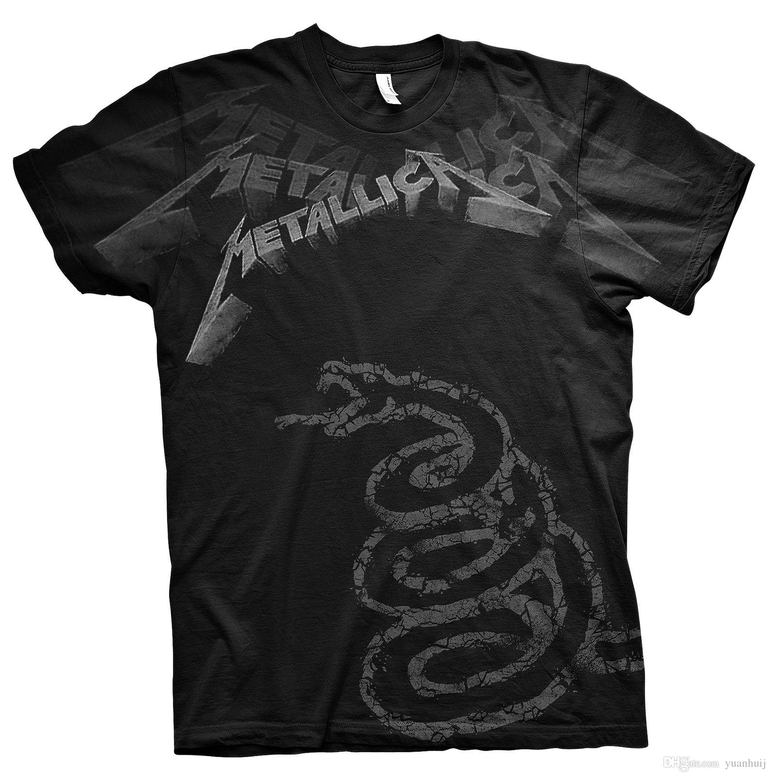 e024ef6cc04 Top Tee Black Album James Hetfield Rock T Shirt Officiel Hommes Best T  Shirt Online Buy Funky T Shirts Online From Yuanhuij