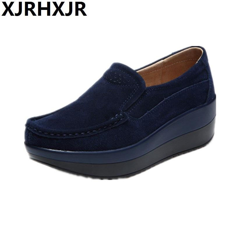 flats comfortable new leather product comforter fashion big size women nurse shoes single femininas mother