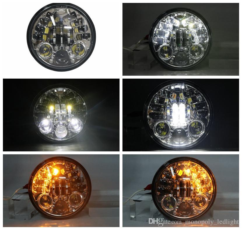 5,75 Zoll Chrom-LED-Scheinwerfer mit Blinkerfunktion für die Nachtstraße 883 750 48 72 Indian Scout