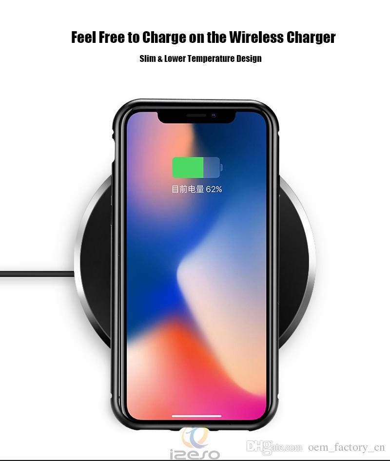 Custodia telefono in metallo ad adsorbimento magnetico iPhone 11 Pro Xr Xs Max X Telaio in lega di alluminio a copertura completa con cover posteriore in vetro temperato