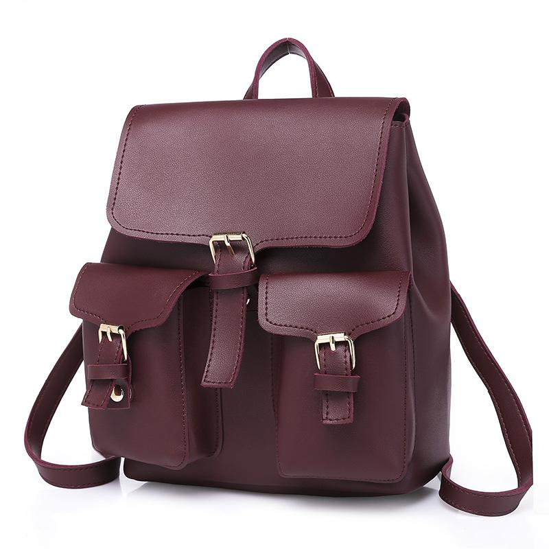 9dffa4ef4419 2018 Vintage Backpack Women S Backpack Large Capacity Female Brand PU Leather  Shoulder Bags Casual Rucksack Student School Bag College Backpacks Girl ...