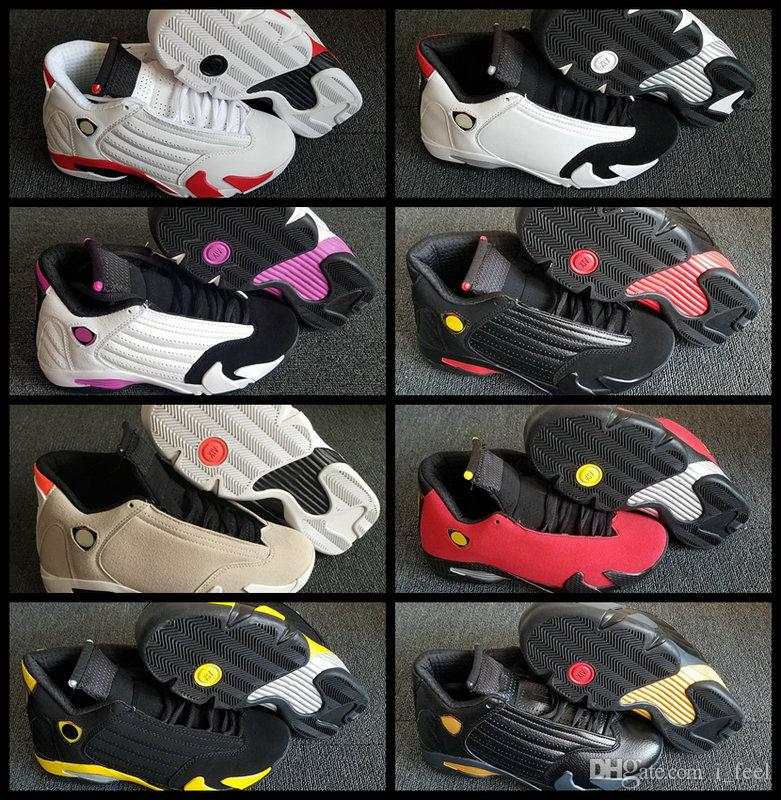 buy online 3db38 b2bfc 14 XIV 14s Desert Sand Candy Cane Last Shot Mens Womens 2018 Basketball Shoes  Trainers Pink Black Gold Red Toe DMP Designer Sneakers Mens Shoes Sneakers  ...