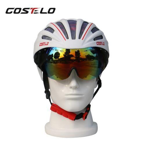 2baef6bd0 Compre Costelo Capacete De Ciclismo Lenes MTB Mountain Road Capacete ...